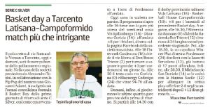 basket day a tarcento messaggero